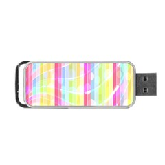 Colorful Abstract Stripes Circles And Waves Wallpaper Background Portable Usb Flash (one Side)