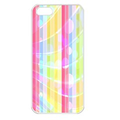 Colorful Abstract Stripes Circles And Waves Wallpaper Background Apple iPhone 5 Seamless Case (White)