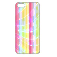 Colorful Abstract Stripes Circles And Waves Wallpaper Background Apple Seamless iPhone 5 Case (Clear)