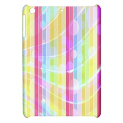 Colorful Abstract Stripes Circles And Waves Wallpaper Background Apple iPad Mini Hardshell Case