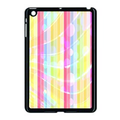 Colorful Abstract Stripes Circles And Waves Wallpaper Background Apple Ipad Mini Case (black)
