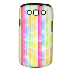 Colorful Abstract Stripes Circles And Waves Wallpaper Background Samsung Galaxy S Iii Classic Hardshell Case (pc+silicone)