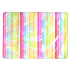 Colorful Abstract Stripes Circles And Waves Wallpaper Background Samsung Galaxy Tab 10 1  P7500 Flip Case