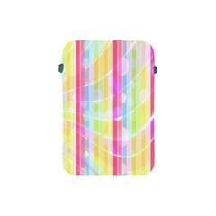 Colorful Abstract Stripes Circles And Waves Wallpaper Background Apple iPad Mini Protective Soft Cases