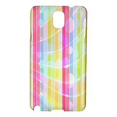 Colorful Abstract Stripes Circles And Waves Wallpaper Background Samsung Galaxy Note 3 N9005 Hardshell Case