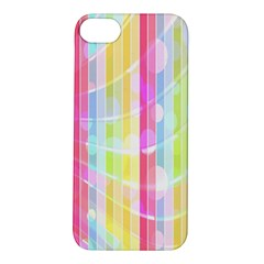 Colorful Abstract Stripes Circles And Waves Wallpaper Background Apple iPhone 5S/ SE Hardshell Case
