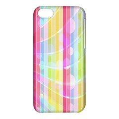 Colorful Abstract Stripes Circles And Waves Wallpaper Background Apple iPhone 5C Hardshell Case