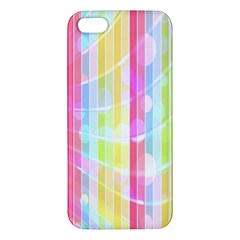 Colorful Abstract Stripes Circles And Waves Wallpaper Background iPhone 5S/ SE Premium Hardshell Case