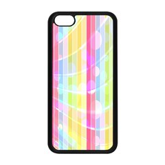 Colorful Abstract Stripes Circles And Waves Wallpaper Background Apple iPhone 5C Seamless Case (Black)