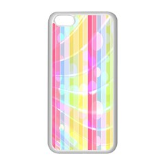 Colorful Abstract Stripes Circles And Waves Wallpaper Background Apple Iphone 5c Seamless Case (white)