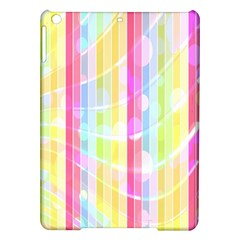 Colorful Abstract Stripes Circles And Waves Wallpaper Background Ipad Air Hardshell Cases