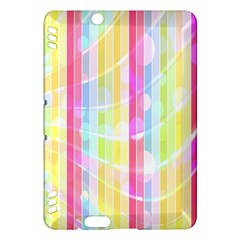 Colorful Abstract Stripes Circles And Waves Wallpaper Background Kindle Fire Hdx Hardshell Case