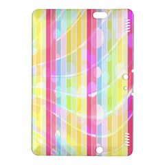 Colorful Abstract Stripes Circles And Waves Wallpaper Background Kindle Fire Hdx 8 9  Hardshell Case
