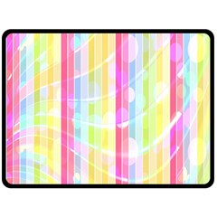 Colorful Abstract Stripes Circles And Waves Wallpaper Background Double Sided Fleece Blanket (large)