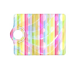 Colorful Abstract Stripes Circles And Waves Wallpaper Background Kindle Fire Hd (2013) Flip 360 Case