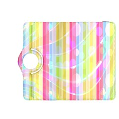 Colorful Abstract Stripes Circles And Waves Wallpaper Background Kindle Fire Hdx 8 9  Flip 360 Case