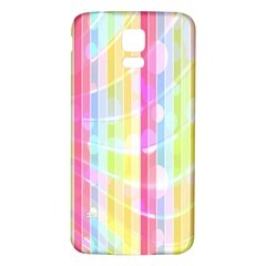 Colorful Abstract Stripes Circles And Waves Wallpaper Background Samsung Galaxy S5 Back Case (white)