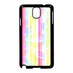 Colorful Abstract Stripes Circles And Waves Wallpaper Background Samsung Galaxy Note 3 Neo Hardshell Case (Black)