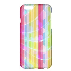 Colorful Abstract Stripes Circles And Waves Wallpaper Background Apple Iphone 6 Plus/6s Plus Hardshell Case