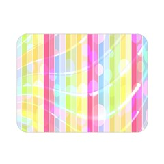 Colorful Abstract Stripes Circles And Waves Wallpaper Background Double Sided Flano Blanket (Mini)