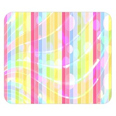 Colorful Abstract Stripes Circles And Waves Wallpaper Background Double Sided Flano Blanket (Small)