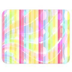 Colorful Abstract Stripes Circles And Waves Wallpaper Background Double Sided Flano Blanket (medium)