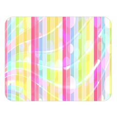 Colorful Abstract Stripes Circles And Waves Wallpaper Background Double Sided Flano Blanket (large)