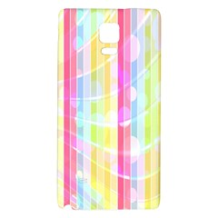 Colorful Abstract Stripes Circles And Waves Wallpaper Background Galaxy Note 4 Back Case