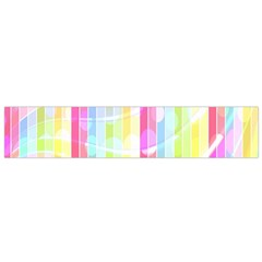 Colorful Abstract Stripes Circles And Waves Wallpaper Background Flano Scarf (small)