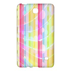 Colorful Abstract Stripes Circles And Waves Wallpaper Background Samsung Galaxy Tab 4 (8 ) Hardshell Case