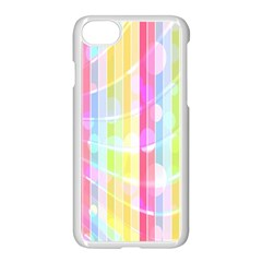 Colorful Abstract Stripes Circles And Waves Wallpaper Background Apple Iphone 7 Seamless Case (white)