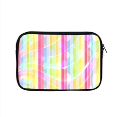 Colorful Abstract Stripes Circles And Waves Wallpaper Background Apple Macbook Pro 15  Zipper Case