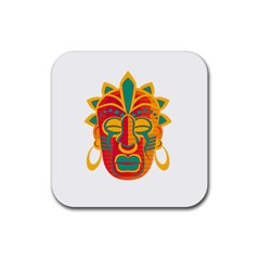Mask Rubber Coaster (Square)