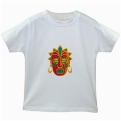 Mask Kids White T-Shirts