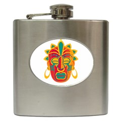 Mask Hip Flask (6 oz)