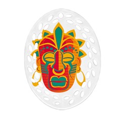 Mask Ornament (Oval Filigree)