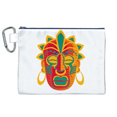 Mask Canvas Cosmetic Bag (XL)
