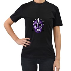 Mask Women s T-Shirt (Black) (Two Sided)