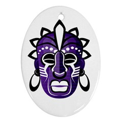 Mask Oval Ornament (Two Sides)