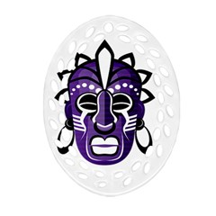 Mask Oval Filigree Ornament (Two Sides)