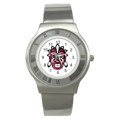 Mask Stainless Steel Watch