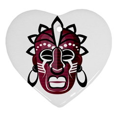 Mask Heart Ornament (Two Sides)