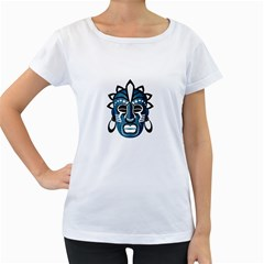 Mask Women s Loose-Fit T-Shirt (White)