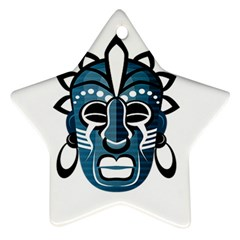 Mask Star Ornament (Two Sides)