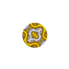Fractal Background With Golden And Silver Pipes 1  Mini Magnets