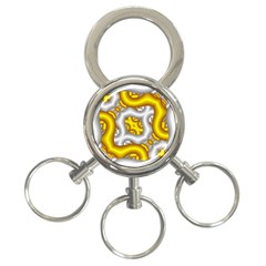 Fractal Background With Golden And Silver Pipes 3 Ring Key Chains