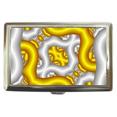 Fractal Background With Golden And Silver Pipes Cigarette Money Cases