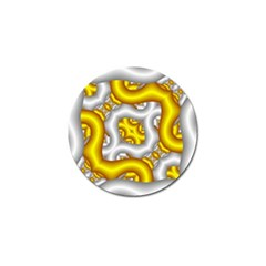 Fractal Background With Golden And Silver Pipes Golf Ball Marker (10 pack)