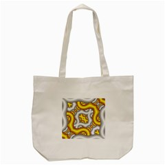 Fractal Background With Golden And Silver Pipes Tote Bag (Cream)