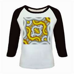 Fractal Background With Golden And Silver Pipes Kids Baseball Jerseys